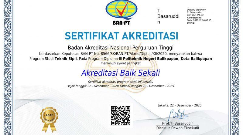 """""""BAIK SEKALI"""": Kado manis bagi Teknik Sipil di penghujung Tahun 2020"""